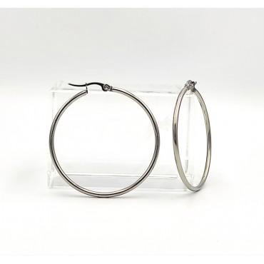 σκουλαρίκι piercing segment κρίκος από χειρουργικό ατσάλι 1.2mm x 12mm 17
