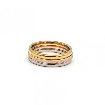σκουλαρίκι piercing segment κρίκος από χειρουργικό ατσάλι χρυσό 1.2mm x 10mm 17