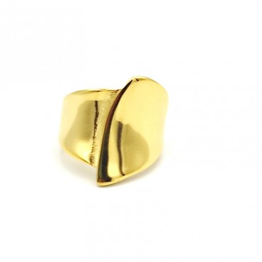 δαχτυλίδι από χειρουργικό ατσάλι με λευκά στρας 16