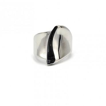 σκουλαρίκι piercing segment κρίκος από χειρουργικό ατσάλι μαύρο 1.2mm x 10mm 16