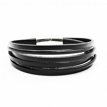 σκουλαρίκια από χειρουργικό ατσάλι με μαύρη μπίλια 5 mm 16