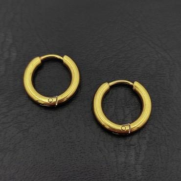 σκουλαρίκια από χειρουργικό ατσάλι με μαύρη μπίλια 5 mm 17