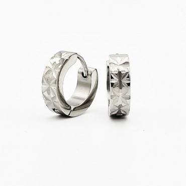 σκουλαρίκι piercing segment κρίκος από χειρουργικό ατσάλι ασημί 1.2mm x 8mm 20