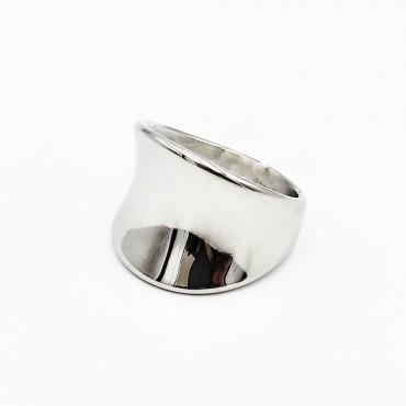 δαχτυλίδι ασήμι 925 ρόδιο καρδιά με λευκά ζιργκόν 20
