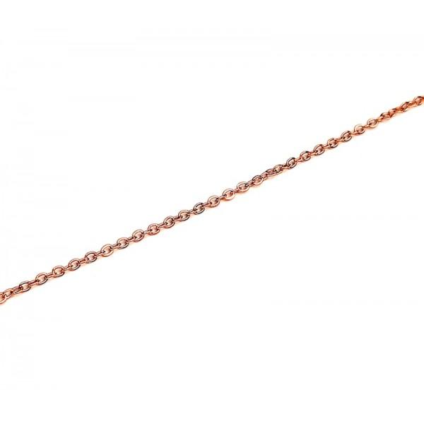 Αλυσίδα λαιμού σε ροζ χρυσό χρώμα από χειρουργικό ατσάλι πάχος 2 mm