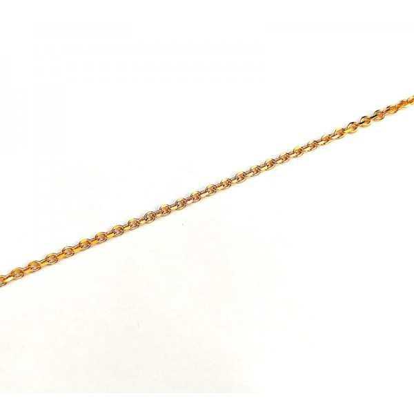 Αλυσίδα λαιμού σε χρυσό χρώμα από χειρουργικό ατσάλι πάχος 3 mm