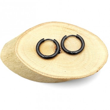 βραχιόλι μαύρο δερμάτινο με μαγνητικό κούμπωμα από χειρουγικό ατσάλι 10
