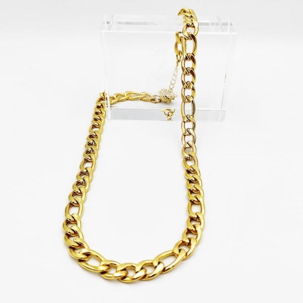 Αλυσίδα λαιμού χρυσή από χειρουργικό ατσάλι