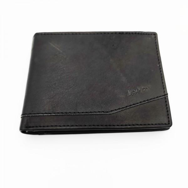 Πορτοφόλι ανδρικό δερμάτινο μαύρο χρώμα