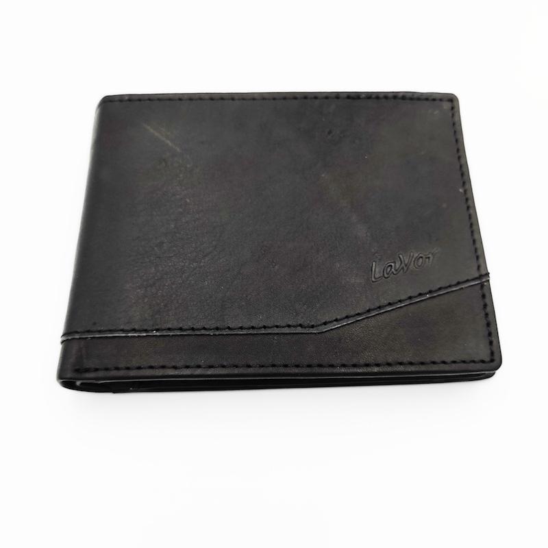 πορτοφόλι ανδρικό δερμάτινο μαύρο χρώμα 7