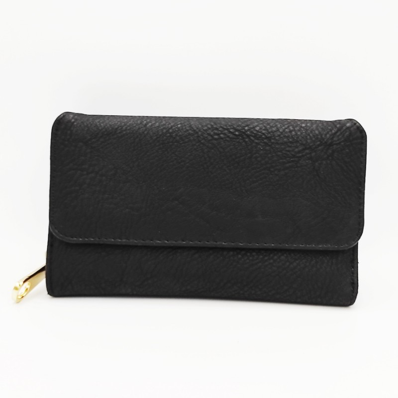 πορτοφόλι γυναικείο δερματίνη μαύρο 7