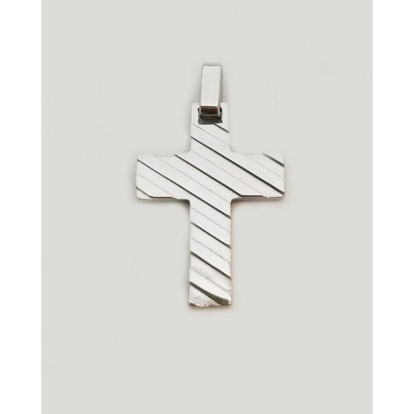 Ασημί σταυρός από χειρουργικό ατσάλι