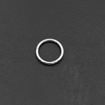 σκουλαρίκια μύτης ασημένια με λευκό στρασάκι 1.5 mm καρφάκι 9