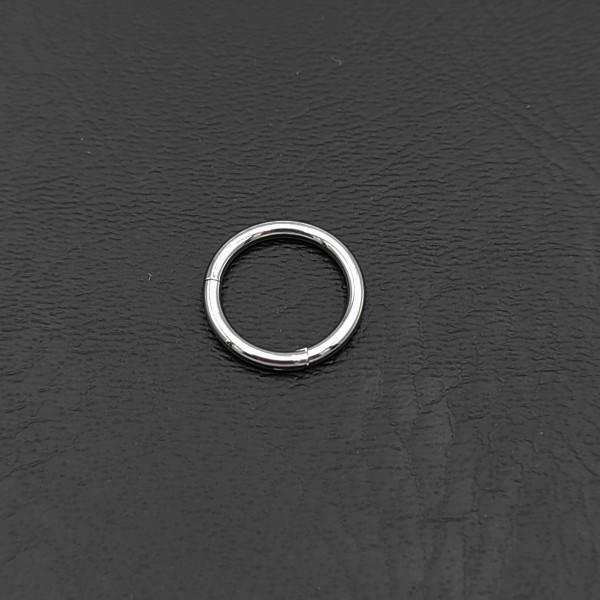 Σκουλαρίκι piercing segment κρίκος από χειρουργικό ατσάλι ασημί 1.2mm x 8mm