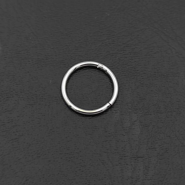 Σκουλαρίκι piercing segment κρίκος από χειρουργικό ατσάλι 1.2mm x 10mm