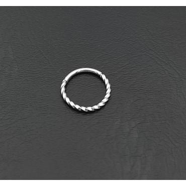 δαχτυλίδι από χειρουργικό ατσάλι με λευκά στρας 13