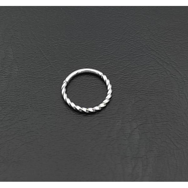 Σκουλαρίκι piercing segment κρίκος από χειρουργικό ατσάλι 1.2mm x 12mm