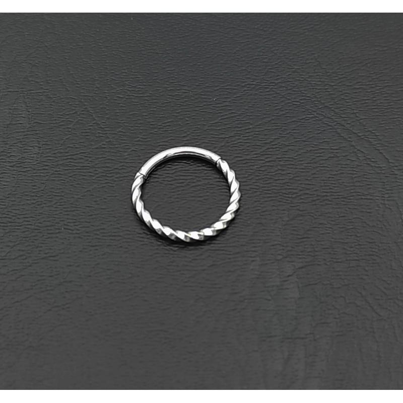 σκουλαρίκι piercing segment κρίκος από χειρουργικό ατσάλι 1.2mm x 12mm 7