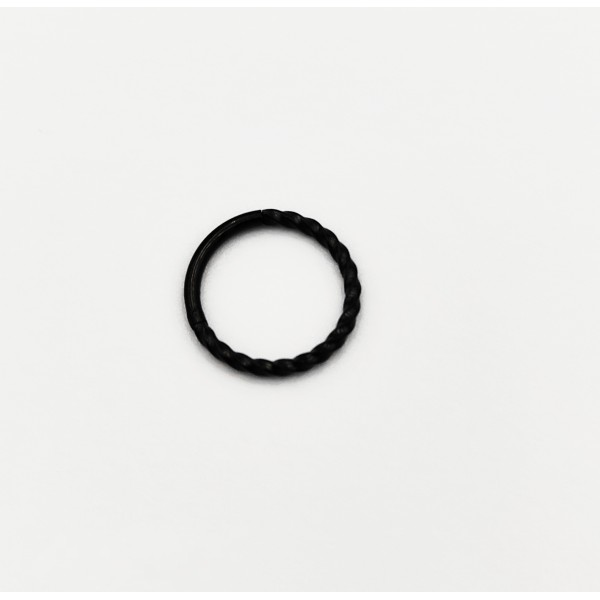 Σκουλαρίκι piercing segment κρίκος από χειρουργικό ατσάλι μαύρο 1.2mm x 10mm