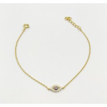 κολιέ ασήμι 925 χρυσό τρίγωνο αβεντουρίνη 16