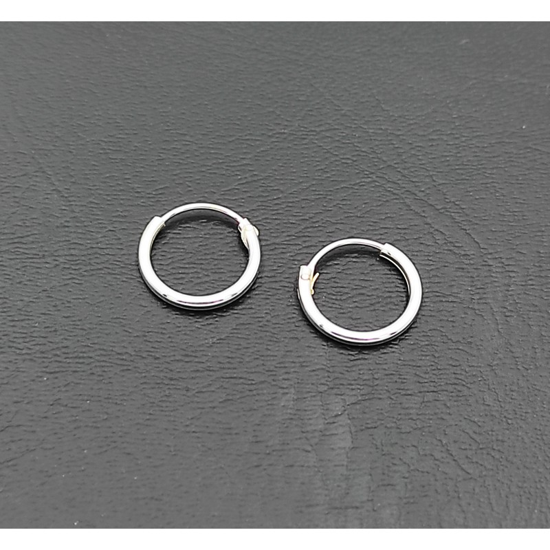 σκουλαρίκι κρίκος ασήμι 925 1 mm πάχος x 10 mm διάμετρο 7