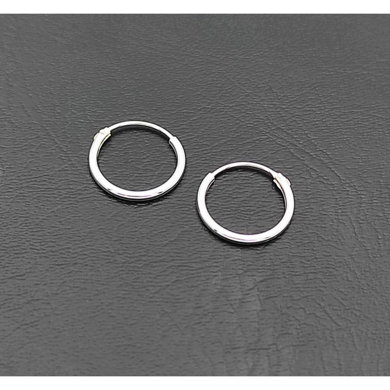 σκουλαρίκι κρίκος ασήμι 925 1 mm πάχος x 12 mm διάμετρο 7
