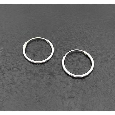 σκουλαρίκια από χειρουργικό ατσάλι πέρλα 7mm 10