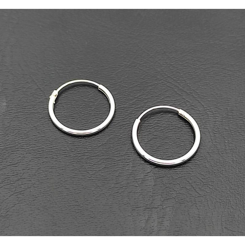 σκουλαρίκι κρίκος ασήμι 925 1 mm πάχος x 14 mm διάμετρο 7