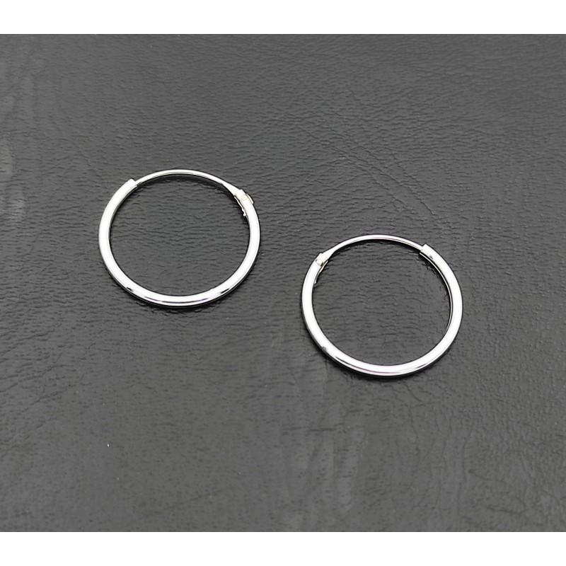 σκουλαρίκι κρίκος ασήμι 925 1 mm πάχος x 16 mm διάμετρο 7