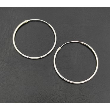 σκουλαρίκι κρίκος ασήμι 925 1 mm πάχος x 12 mm διάμετρο 13