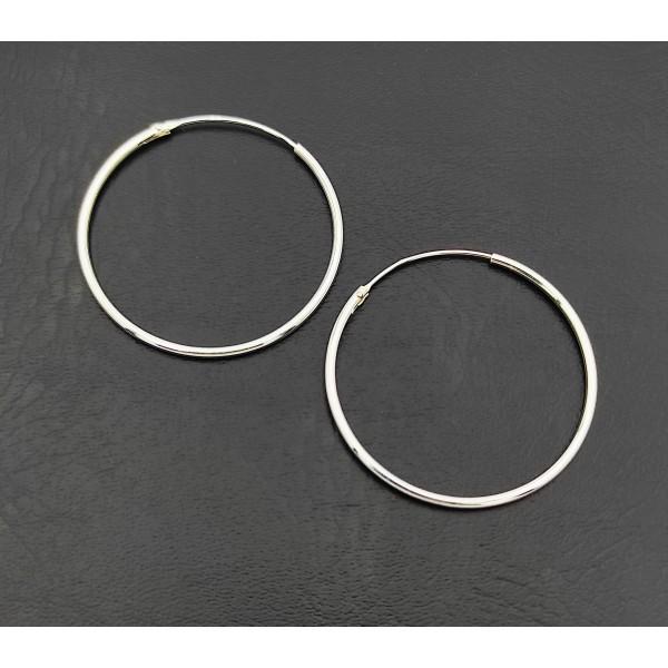 Σκουλαρίκι κρίκοι ασήμι 925 1 mm πάχος x 30 mm διάμετρο