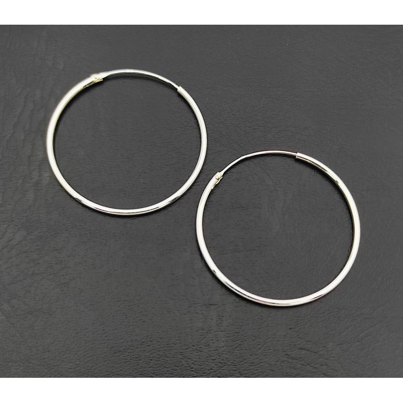 σκουλαρίκι κρίκοι ασήμι 925 1 mm πάχος x 30 mm διάμετρο 7