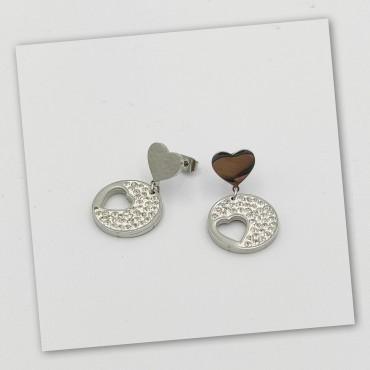 δαχτυλίδι ασήμι 925 ρόδιο καρδιά με λευκά ζιργκόν 21