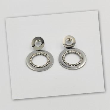 σκουλαρίκια από χειρουργικό ατσάλι πέρλα 6mm 14