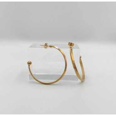 σκουλαρίκια ασήμι 925 επιχρυσωμένο με ζιργκόν 3 mm 21