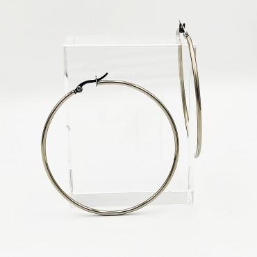 σκουλαρίκια από χειρουργικό ατσάλι με μαύρη μπίλια 5 mm 11