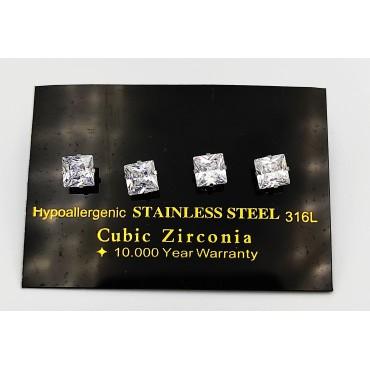 δαχτυλίδι ασήμι 925 διπλό ρόδιο στρογγυλό λευκά ζιργκόν 16