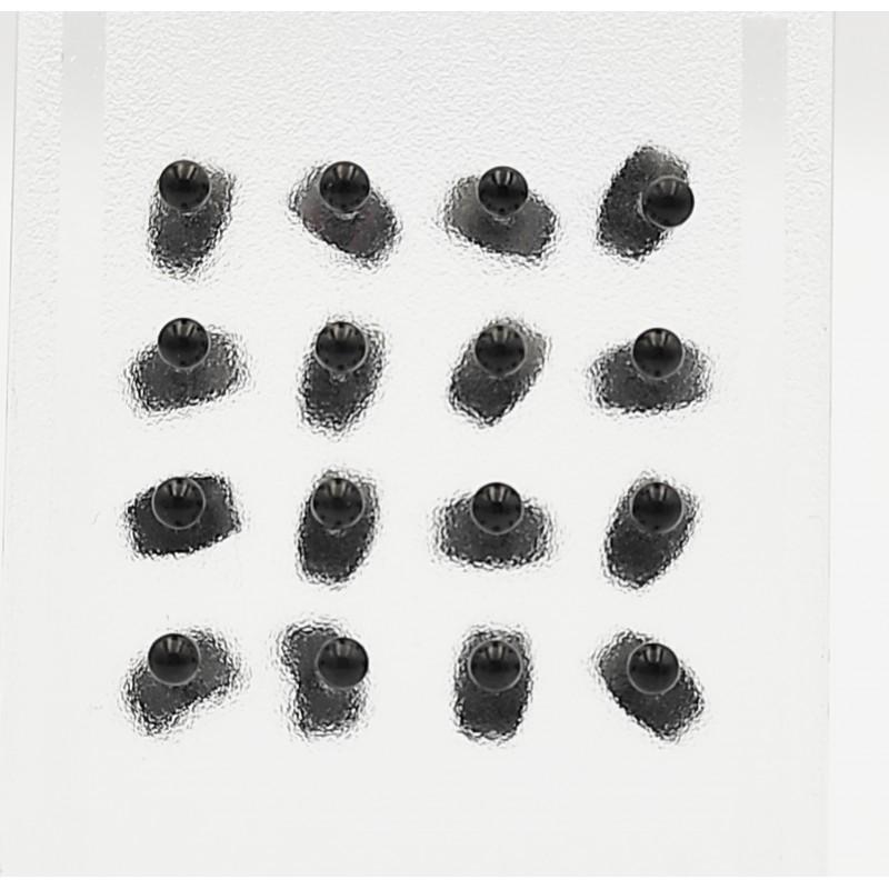σκουλαρίκια από χειρουργικό ατσάλι με μαύρη μπίλια 2 mm 7