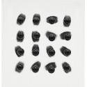 σκουλαρίκια από χειρουργικό ατσάλι με μαύρη μπίλια 3 mm 8
