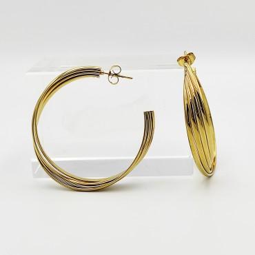 σκουλαρίκι piercing segment ασημί κρίκος απο χειρουργικό ατσάλι 1.2mm x 12mm με μπίλια 3 mm 10
