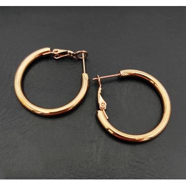 σκουλαρίκι piercing segment κρίκος από χειρουργικό ατσάλι 1.2mm x 8mm με μπίλια 3 mm 10