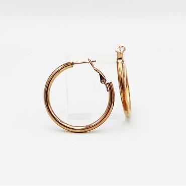 βραχιόλι ποδιού ροζ χρυσό αλυσίδα από χειρουργικό ατσάλι 9