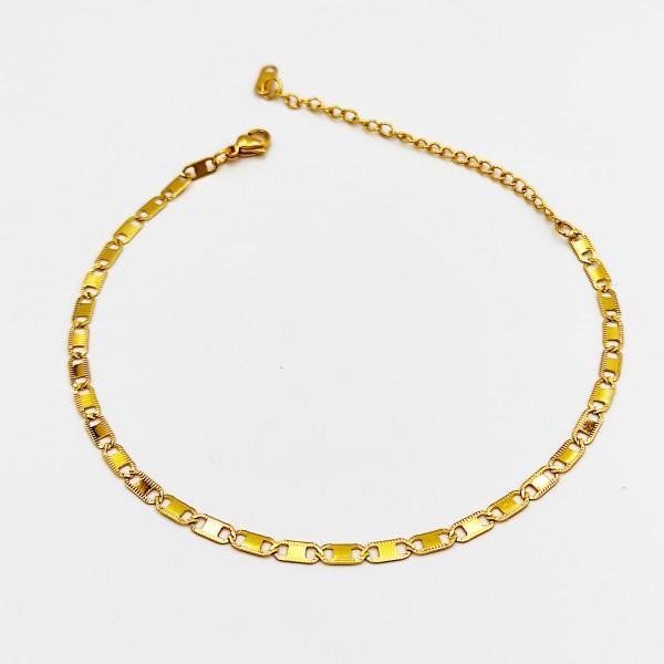 Βραχιόλι ποδιού χρυσό αλυσίδα από χειρουργικό ατσάλι