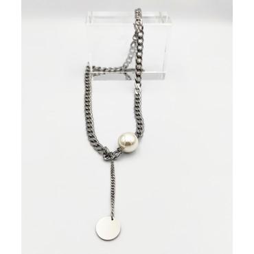 σκουλαρίκια από χειρουργικό ατσάλι πέρλα 7mm 11