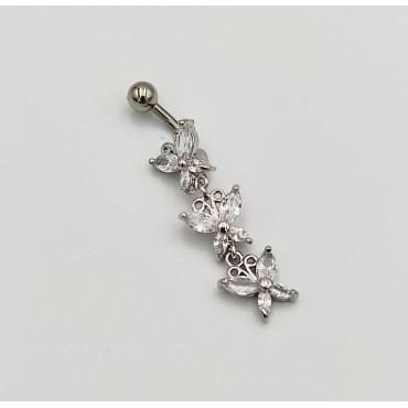 σκουλαρίκι piercing segment κρίκος από χειρουργικό ατσάλι multi 1.2mm x 8mm 9