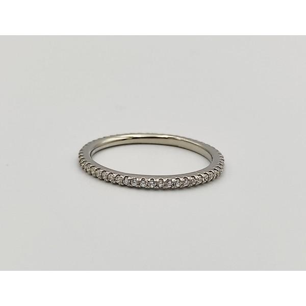 Δαχτυλίδι ασήμι 925 ρόδιο βεράκι με λευκά ζιργκόν