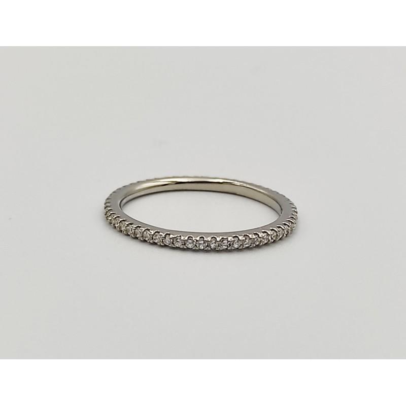 δαχτυλίδι ασήμι 925 ρόδιο βεράκι με λευκά ζιργκόν 7