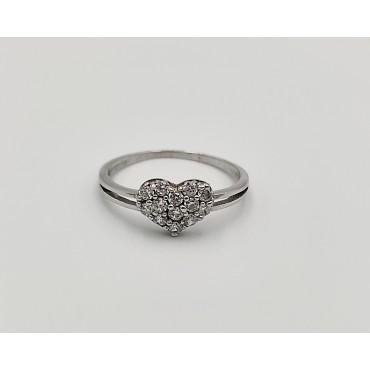 δαχτυλίδι ασήμι 925 ρόδιο βεράκι με λευκά ζιργκόν 10