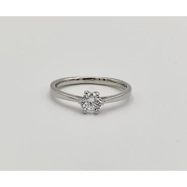 δαχτυλίδι ασήμι 925 καρδιά με λευκά και κόκκινο ζιργκόν 10