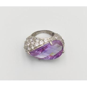 δαχτυλίδι ασήμι 925 μονόπετρο ρόδιο καρδιά λευκά ζιργκόν 19